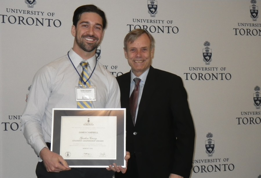 PT Student James Campbell Receives Cressy Award