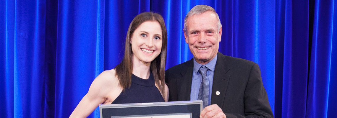 Physical Therapy Student Receives 2018 Gordon Cressy Student Leadership Award