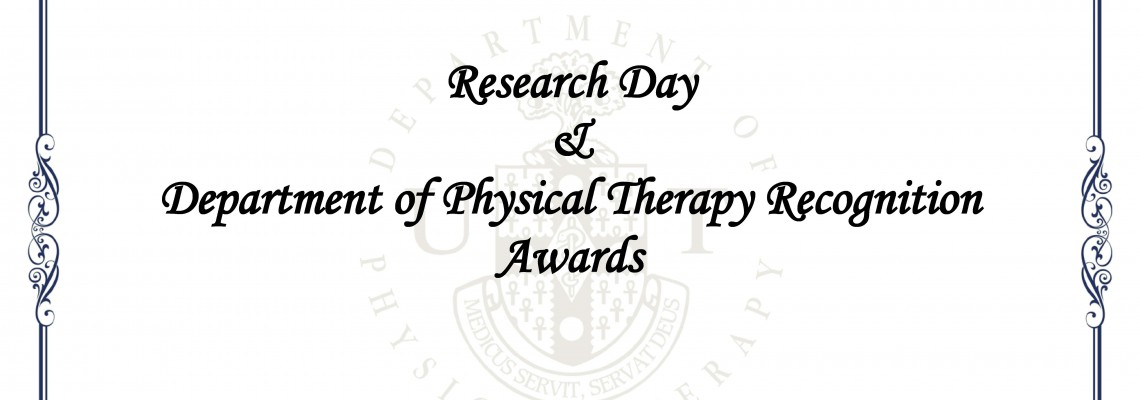 Department of Physical Therapy MSc.PT Research Day and Awards Ceremony